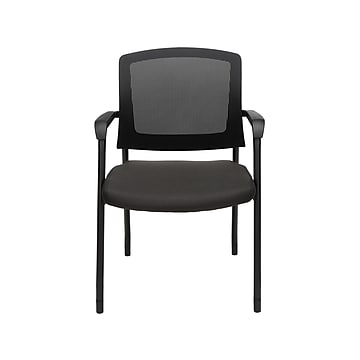 Core Collection Office Chair, Mesh Back Guest and Reception Chair with Arms, in Black (424-805)