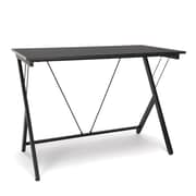 Essentials By OFM Computer Desk with Metal Leg, Black (ESS-1001-BLK-BLK)