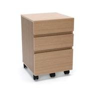 Essentials by OFM 3-Drawer Wheeled Mobile Pedestal Cabinet, Harvest (ESS-1030-HVT)