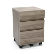 Essentials by OFM 3-Drawer Wheeled Mobile Pedestal Cabinet, Driftwood (ESS-1030-DWD)