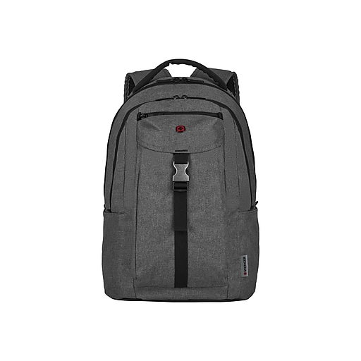 Wenger Chasma Laptop Backpack, Solid, Heather Gray (606891)