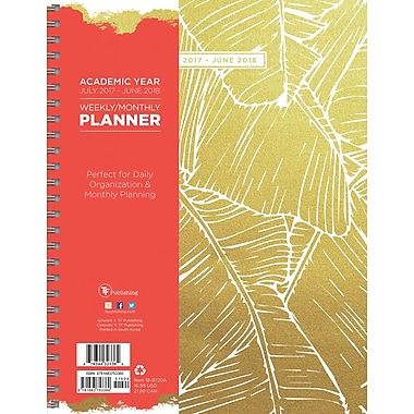 Tf Publishing 2018 Academic Year Botanical Large Weekly Monthly Planner (18-9720A)