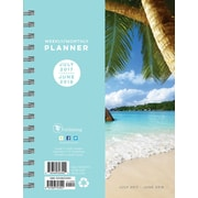 Tf Publishing 2018 Academic Year Tropical Beaches Medium Weekly Monthly Planner (18-9097A)