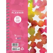 Tf Publishing 2018 Academic Year Painted Dots Medium Weekly Monthly Planner (18-9224A)