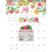 Tf Publishing 2018 Academic Year Flowers Monthly Wall Calendar (18-6099A)