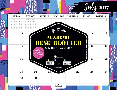 Hallmark 2018 Academic Year The Art Of Hallmark Desk Blotter (18-8244A)