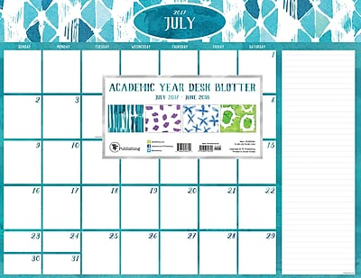 Tf Publishing 2018 Academic Year Watercolor Desk Blotter (18-8204A)