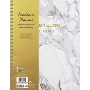 Tf Publishing 2018 Academic Year Marble Large Weekly Monthly Planner (18-9741A)