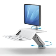 "Lotus RT Sit-Stand 36""W Single Monitor Workstation, White (8081701)"
