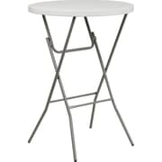 "Advantage 32"" Round Bar Height Folding Table - White Granite Cafe Table  (ADV32RBARWHITE5)"