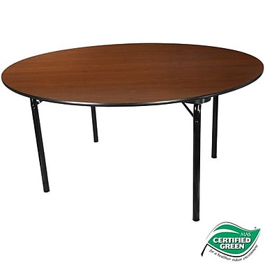 Advantage 5 ft. Round High Pressure Laminate Folding Banquet Table (MEW-60R-WB-05)