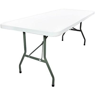 Advantage 6 Foot Plastic Folding Table By Advantage 30x72 Adv3072white05