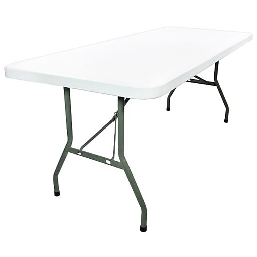 Advantage 8 Foot Plastic Folding Table By Advantage 30 X96 Adv3096white05