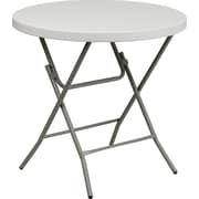 "Advantage 32"" Round Folding Table - White Granite Cafe Table  (ADV32RLZWHITE05)"