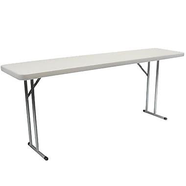 Advantage 8 ft. Pedestal Leg Folding Training Table 18