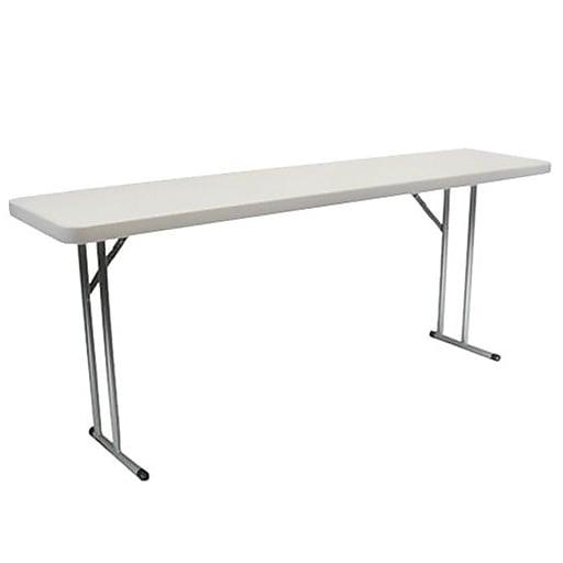 "Advantage 6 ft. Pedestal Leg Folding Training Table 18""x72"" (ADV1872)"