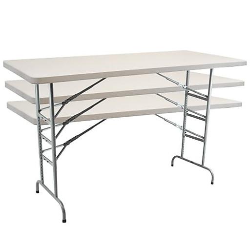 "Advantage 6 ft. Adjustable Height Folding Table 30""x72"" (ADV3072-ADJ-05)"