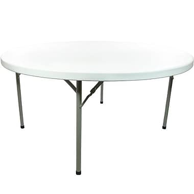 Advantage 5 ft. Round Folding Table - White Granite (ADV60R-WHITE-05)