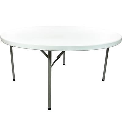 Advantage 4 ft. Round Folding Table - White Granite (ADV48R-WHITE-05)