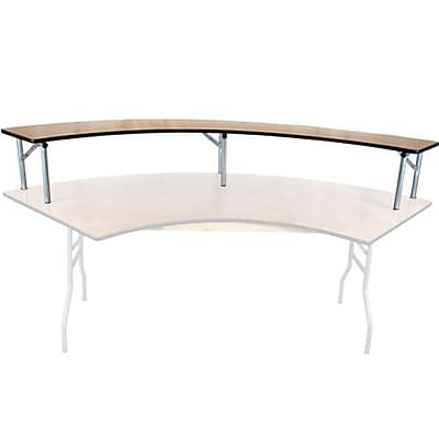 Advantage 6 ft. Serpentine Table Wood Bar Top (BTPW-SERP-05)