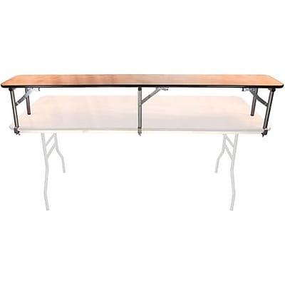 Advantage 6 ft. Rectangular Table Wood Bar Top, 5 Pack (BTPW-1272-05)