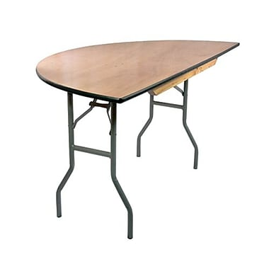 Advantage 5 ft. Half Round Wooden Folding Banquet Table (FTPW-60HR-05)