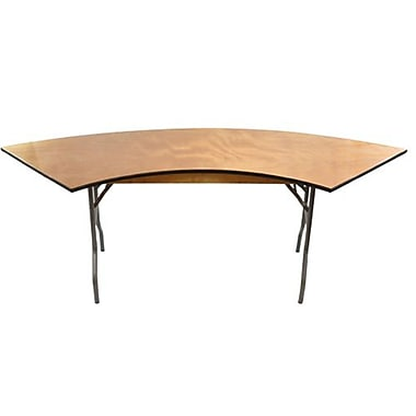Advantage 6 ft. Serpentine Plywood Folding Table (FTPW-SERP-05)