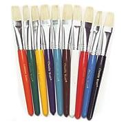 Chenille Kraft® Creativity Street® Stubby Plastic Handle Paint Brushes, Flat, 10/Pack (PAC5184)