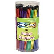 Chenille Kraft® Creativity Street® Plastic Handle Brushes, Assorted Sizes, 144/Pack (PAC5187)