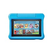 """Amazon Fire 7 Kids Edition 7"""" Tablet, WiFi, 16 GB, (Fire OS), Blue Kid-Proof Case (B07H8WS1FT)"""