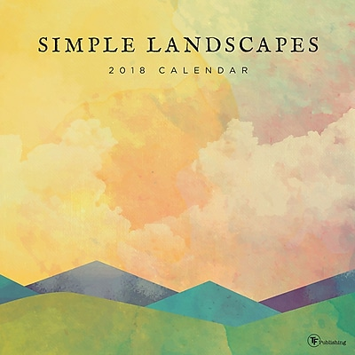 Tf Publishing 2018 Simple Landscapes Wall Calendar (18-1022)