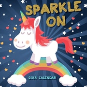 Tf Publishing 2018 Sparkle On - Unicorns Wall Calendar (18-1055)