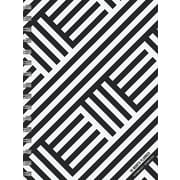 Tf Publishing 2018 Black & White Medium Weekly Monthly Planner (18-9216)