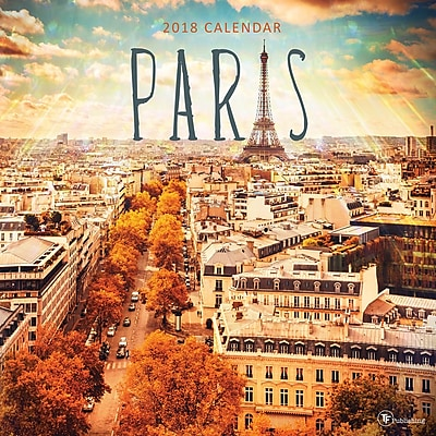 Tf Publishing 2018 Paris Wall Calendar (18-1063)