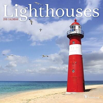 Tf Publishing 2018 Lighthouses Mini Wall Calendar (18-2098)