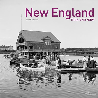 TF Publishing 2018 New England, Then And Now Wall Calendar (18-1309)
