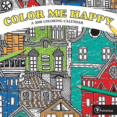 Tf Publishing 2018 Color Me Happy Mini Wall Calendar (18-2018)