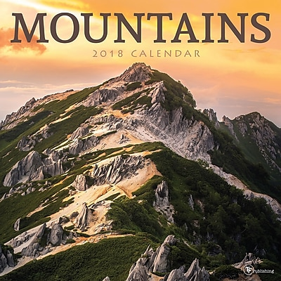 Tf Publishing 2018 Mountains Wall Calendar (18-1044)