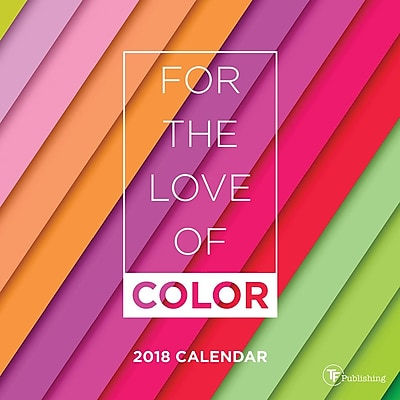 Tf Publishing 2018 For The Love Of Color Mini Wall Calendar (18-2048)