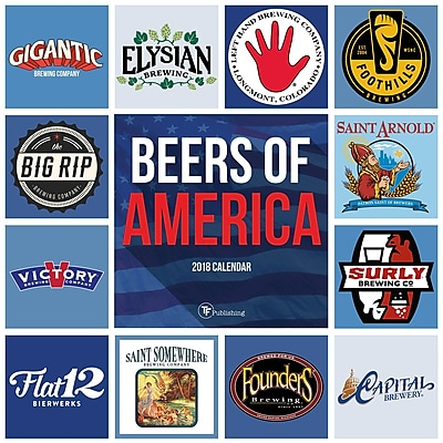 Tf Publishing 2018 Beers Of America Wall Calendar (18-1135)