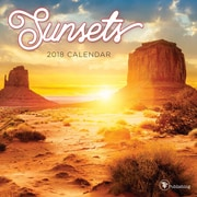 Tf Publishing 2018 Sunsets Mini Wall Calendar (18-2095)