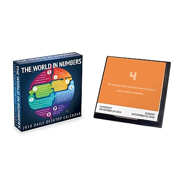Tf Publishing 2018 The World In Numbers Daily Desktop Calendar (18-3266)
