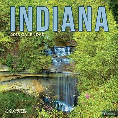 Tf Publishing 2018 Indiana Wall Calendar (18-1164)