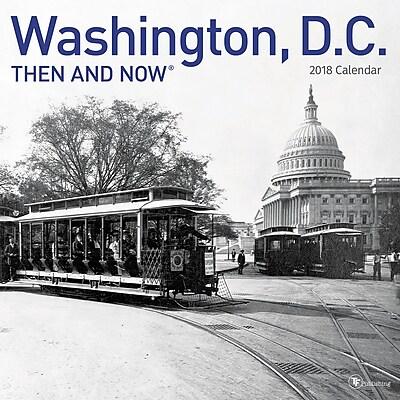 TF Publishing 2018 Washington DC, Then And Now Wall Calendar (18-1317)