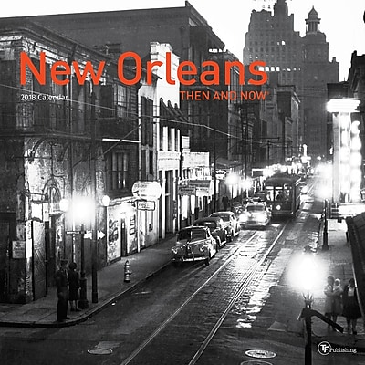 TF Publishing 2018 New Orleans, Then And Now Wall Calendar (18-1310)