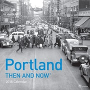 TF Publishing 2018 Portland, Then And Now Wall Calendar (18-1313)