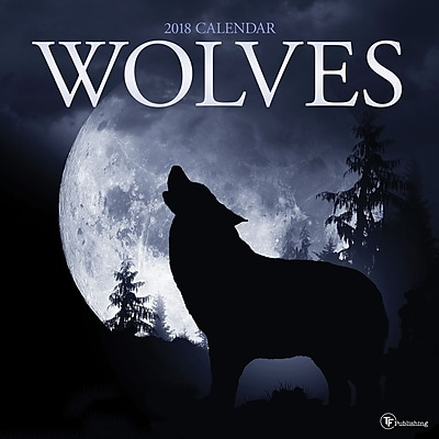 Tf Publishing 2018 Wolves Wall Calendar (18-1012)