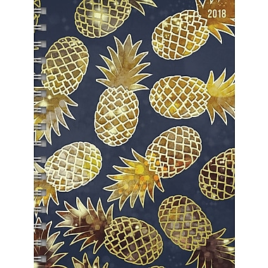 2018 Pineapples Daily Weekly Monthly Planner