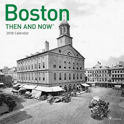 TF Publishing 2018 Boston, Then And Now Wall Calendar (18-1301)