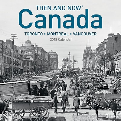 TF Publishing 2018 Canada, Then And Now Wall Calendar (18-1302)